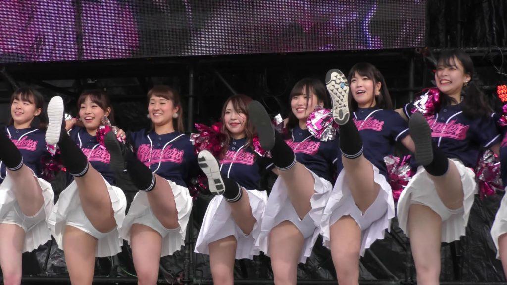 【4K】立命館大学 BLENDERS チアダンス ③ 学園祭 BKC祭 01:34
