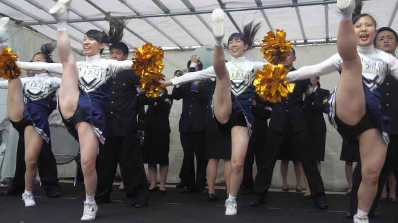 Cheerleading チア ⚾️ 明治大学応援団 バトン・チアリーディング部 JESTERS 2017 チャンスパターンメドレー 🏉 02:27