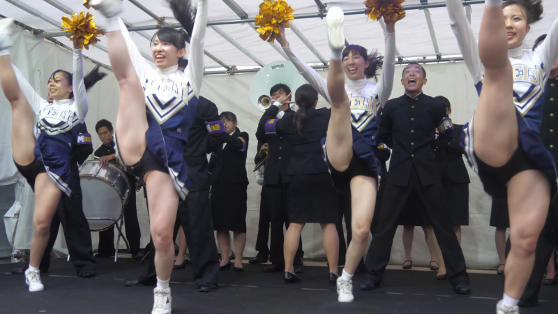 Cheerleading チア ⚾️ 明治大学応援団 バトン・チアリーディング部 JESTERS 2017 チャンスパターンメドレー 🏉 03:20