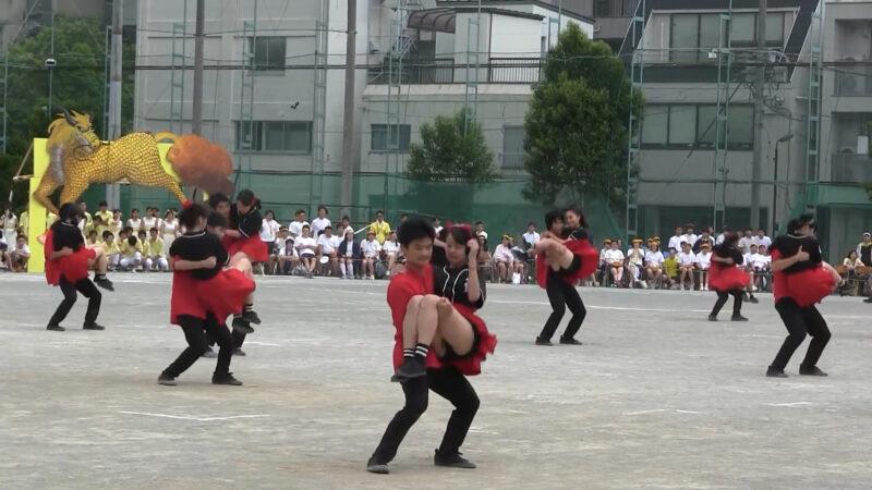 両国高校体育祭2017 応援団ダンス赤軍 ② 03:18