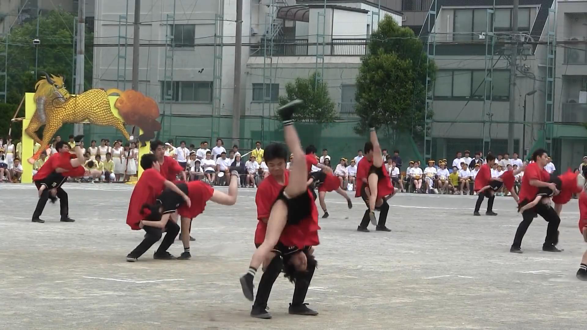 両国高校体育祭2017 応援団ダンス赤軍 ② 03:21