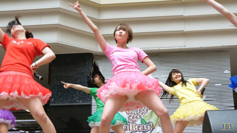 [4K] 匿名ミラージュ 「まっさらブルージーンズ (℃-ute)」 アイドル ライブ Japanese idol group 00:10