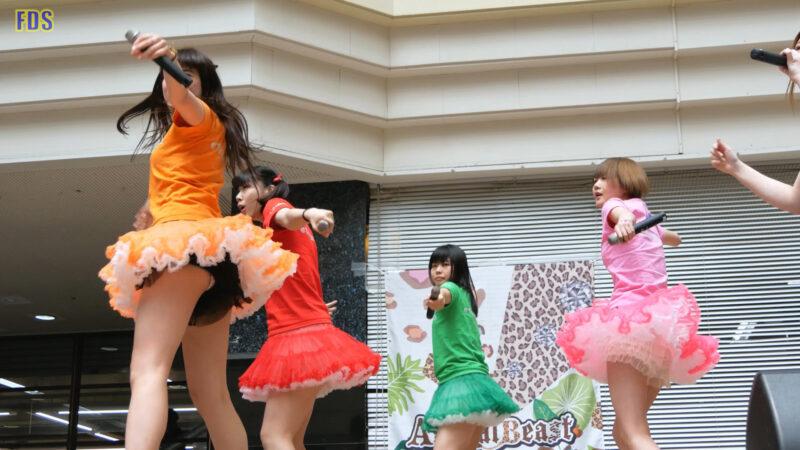 [4K] 匿名ミラージュ 「まっさらブルージーンズ (℃-ute)」 アイドル ライブ Japanese idol group 01:04