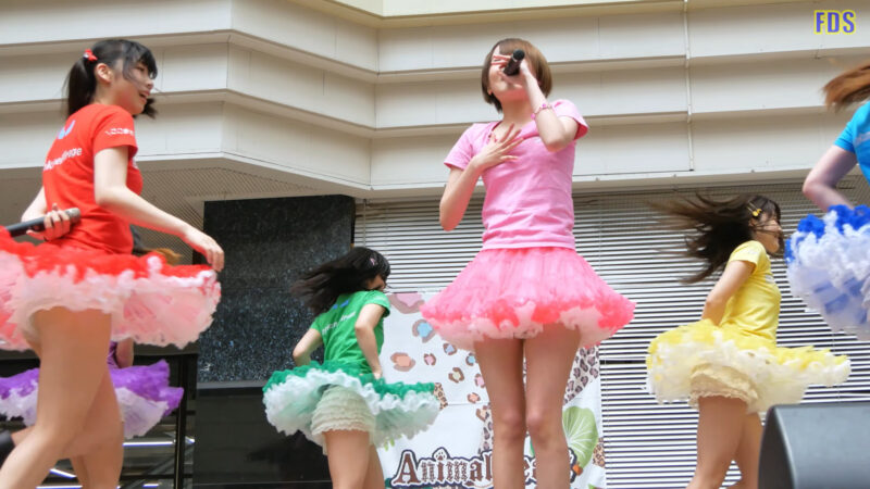 [4K] 匿名ミラージュ 「まっさらブルージーンズ (℃-ute)」 アイドル ライブ Japanese idol group 01:45