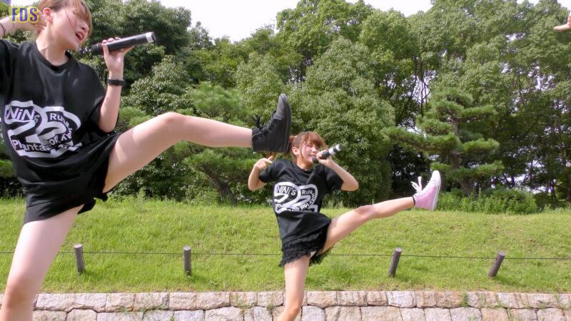 [4K] 自らお腹チラ見せするアイドル 「C.P.U !?」「PPCC」 城天 Japanese idol group 02:25