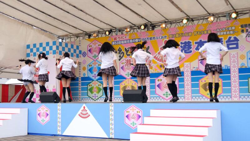 K-NEXTアイドル「ハッピーラッキースッキー」博多どんたく2014 港本舞台 03:02