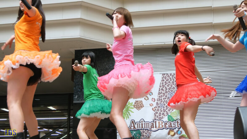 [4K] 匿名ミラージュ 「まっさらブルージーンズ (℃-ute)」 アイドル ライブ Japanese idol group 03:11