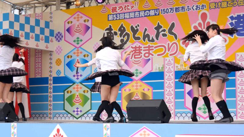 K-NEXTアイドル「ハッピーラッキースッキー」博多どんたく2014 港本舞台 04:07