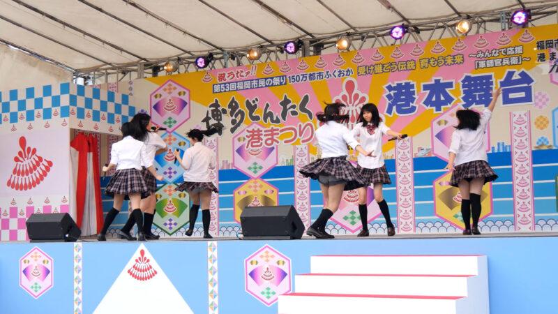 K-NEXTアイドル「ハッピーラッキースッキー」博多どんたく2014 港本舞台 04:29