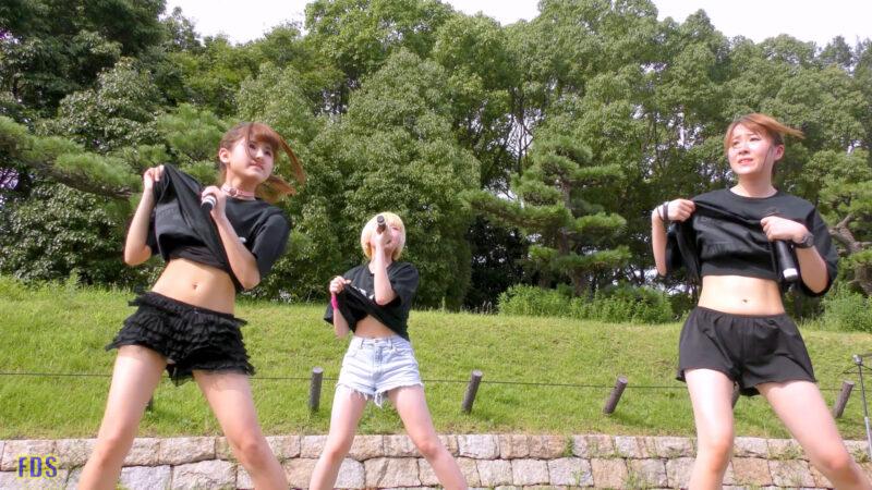 [4K] 自らお腹チラ見せするアイドル 「C.P.U !?」「PPCC」 城天 Japanese idol group 06:15