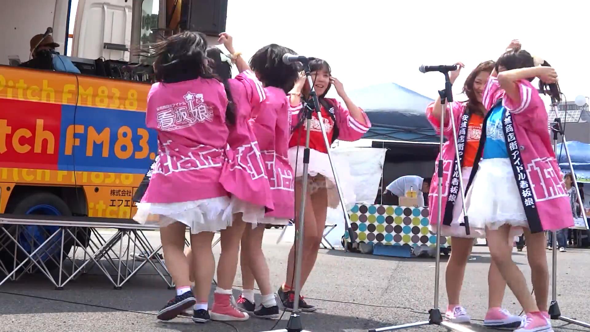 看板娘。 安城まちなかきーぼー市場ステージ 2013.04.27 04:41