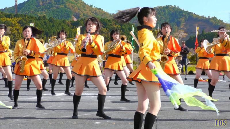 京都橘高校 吹奏楽部 大江山酒呑童子祭り マーチングドリル (前半) Kyoto Tachibana SHS Band [4K] 02:25