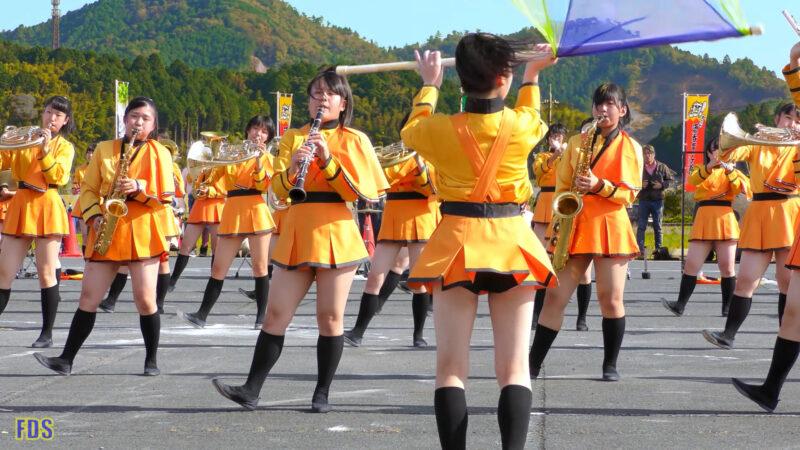 京都橘高校 吹奏楽部 大江山酒呑童子祭り マーチングドリル (前半) Kyoto Tachibana SHS Band [4K] 09:20