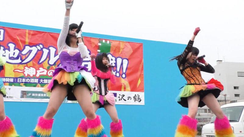 仮面女子候補生WEST 「元気種☆ 」1部・日本全国ご当地グルメ合戦!!・Japan's masked pop idols 05:40