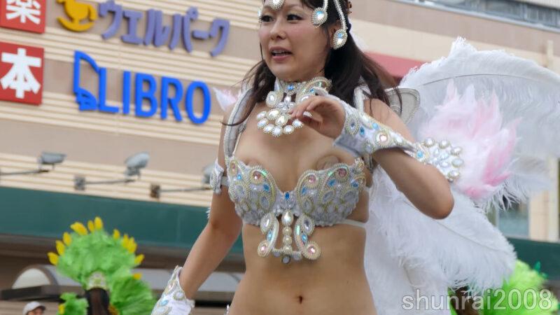 【4K】花小金井サンバフェスティバル 2017 07 16 Hanakoganei Samba Festival (1) ブロコ・アハスタォン Bloco Arrastao 08:12