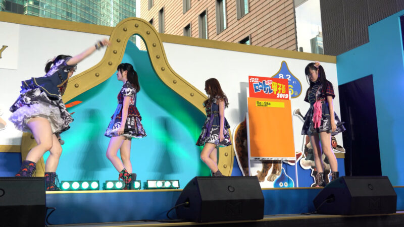 【4K/α7Rⅲ】Re☆Sta/リスタ/愛知県名古屋市代表(Japanese idol group Re☆Sta) 汐留ロコドル甲子園2019 準決勝第1試合 2019年7月27日(土) 01:52