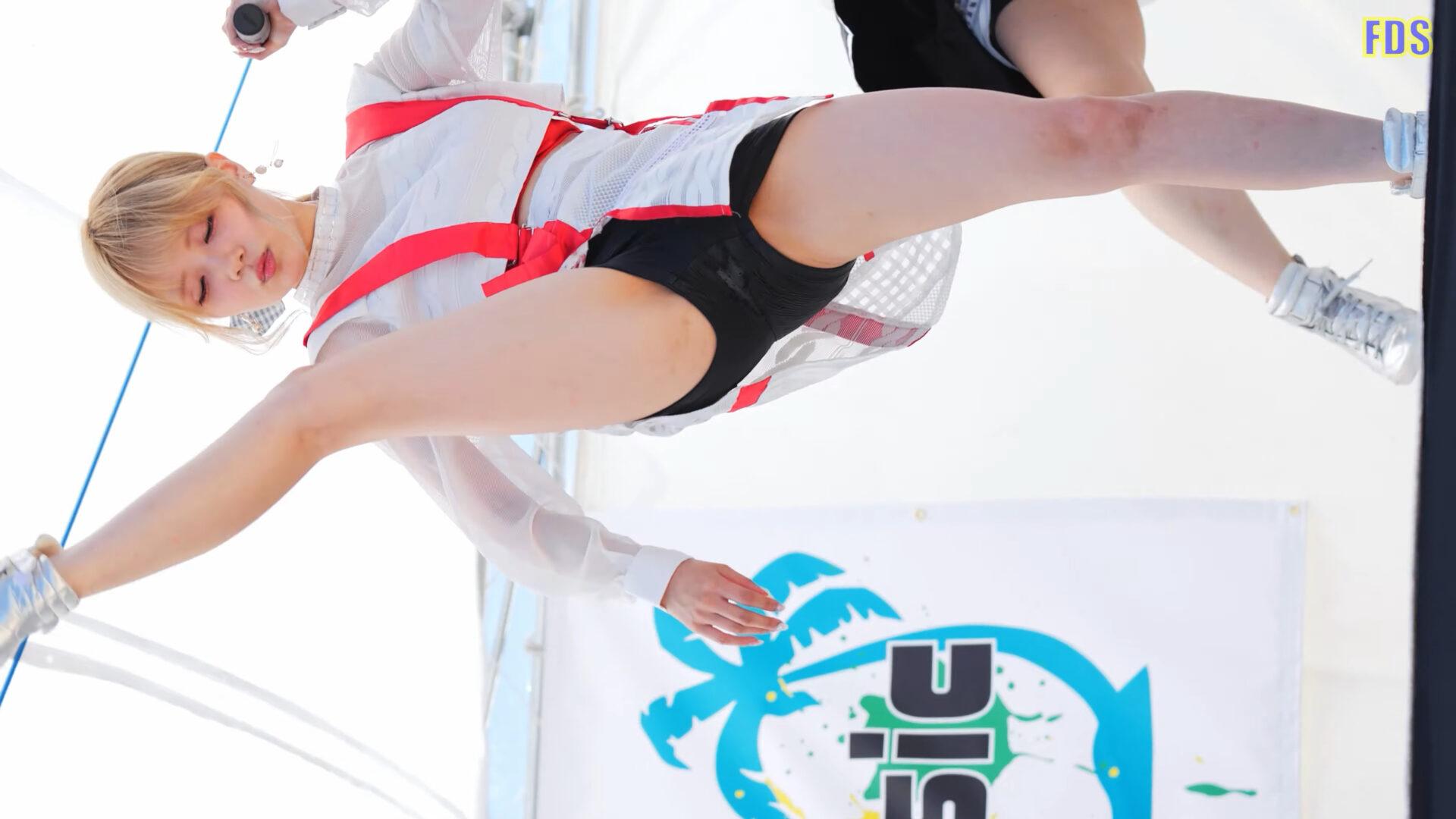 匿名ミラージュ 「うっせえわ」 アイドル ビーチ ライブ Japanese girls idol group [4K] 01:27
