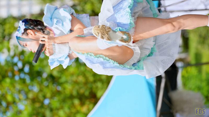 にっぽんワチャチャ 新衣装 屋外プール イベントステージ Japanese girls idol group [4K] 01:34