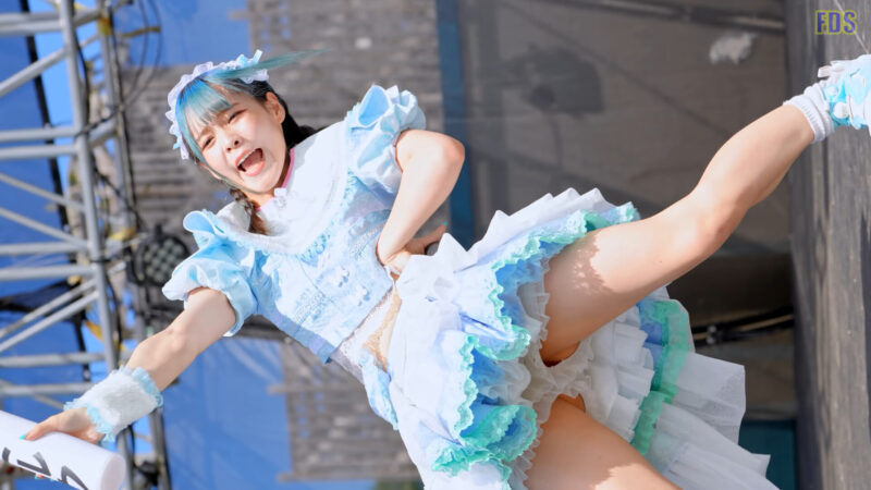 にっぽんワチャチャ 新衣装 屋外プール イベントステージ Japanese girls idol group [4K] 07:12